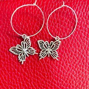 Y2K Talia Butterfly Hoops